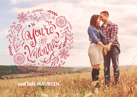 Valentijnskaarten - You're my Valentine Letters
