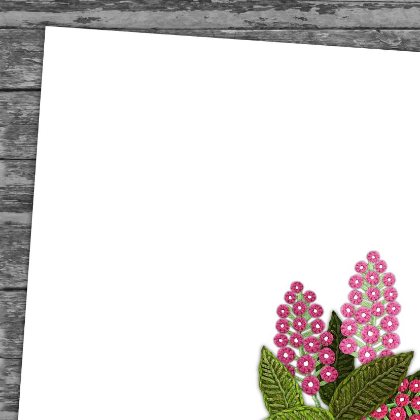 YVON communie roze hip bloemen 3