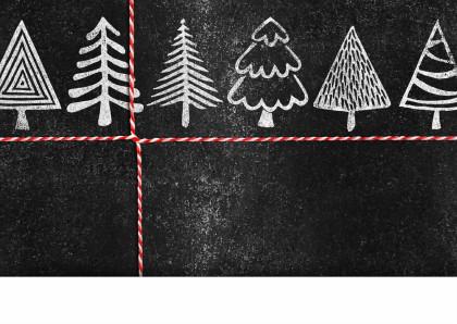 YVON kerstbomen krijt foto 2