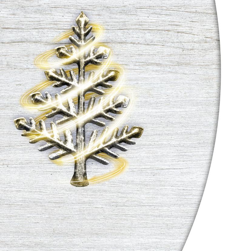 YVON kerstboom wit hout 2