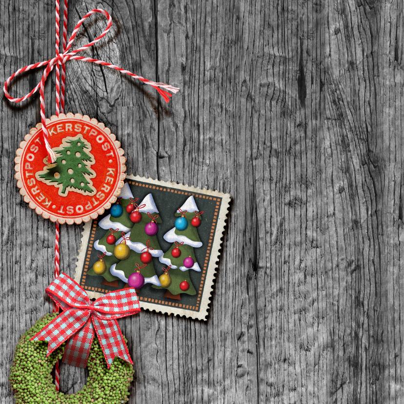 YVON post kerstman hout zegel vk vintage 2