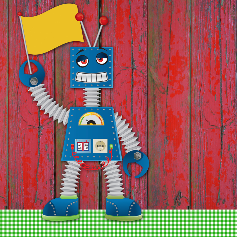 YVON robot groen ruit beterschap 2