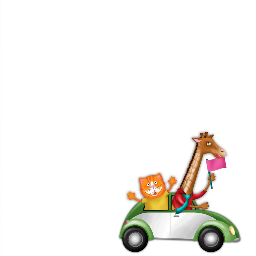 YVON straat kat giraf auto kinderkaart 3