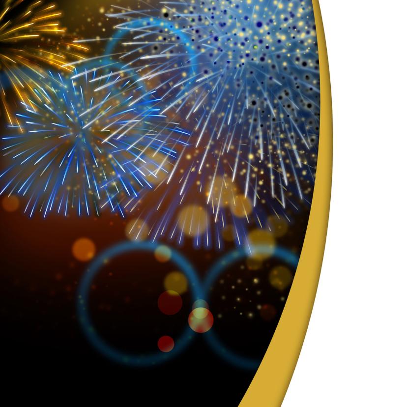 YVON vuurwerk kerstkaart blauw 2