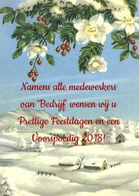Zakelijke kerstkaarten - zakelijk kerst edelweiss