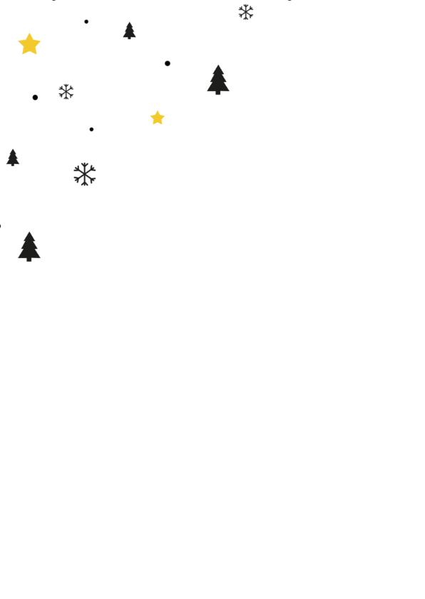 Zakelijk kerstkaart grafisch okergeel met zwart 2