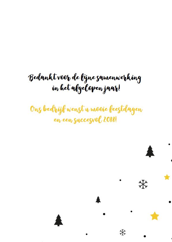 Zakelijk kerstkaart grafisch okergeel met zwart 3