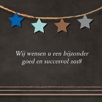 Nieuwjaarskaarten - Zakelijk nieuwjaarskaart ster 77
