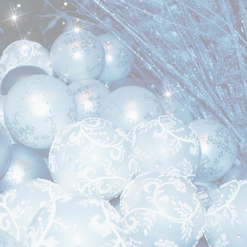 Zakelijke kerstkaart blauw kerstballen - LB 2