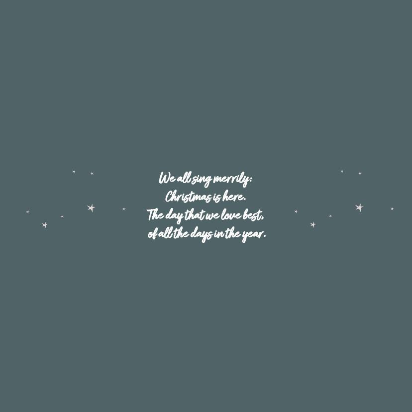 Zakelijke kerstkaart donkerblauw met sterren 2