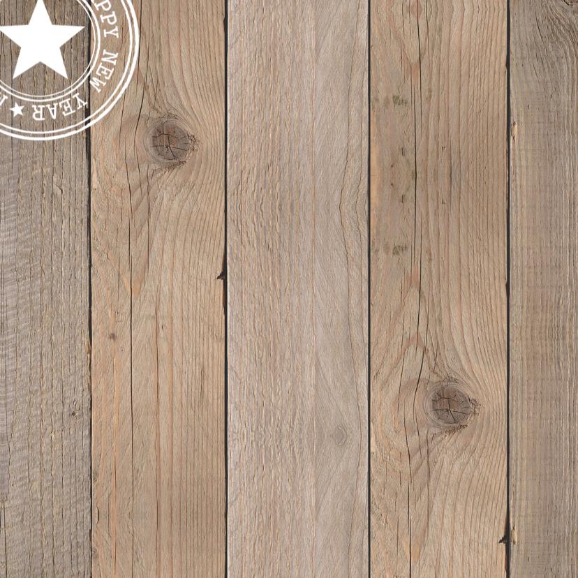Zakelijke kerstkaart foto houtprint - LB 2
