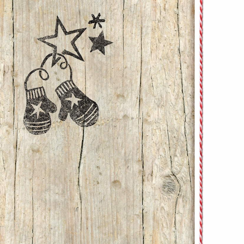 zakelijke kerstkaart foto stempel hout 2