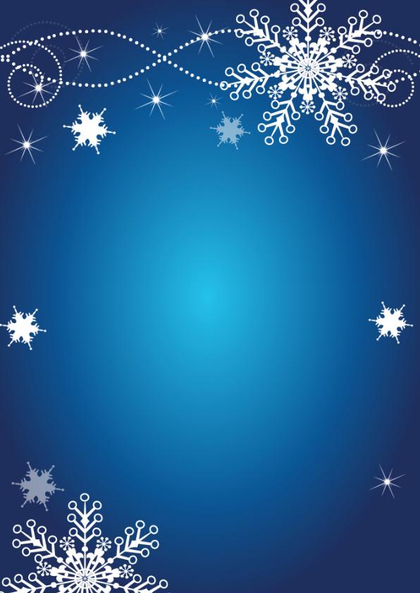 Zakelijke kerstkaart fotocollage blauw 2