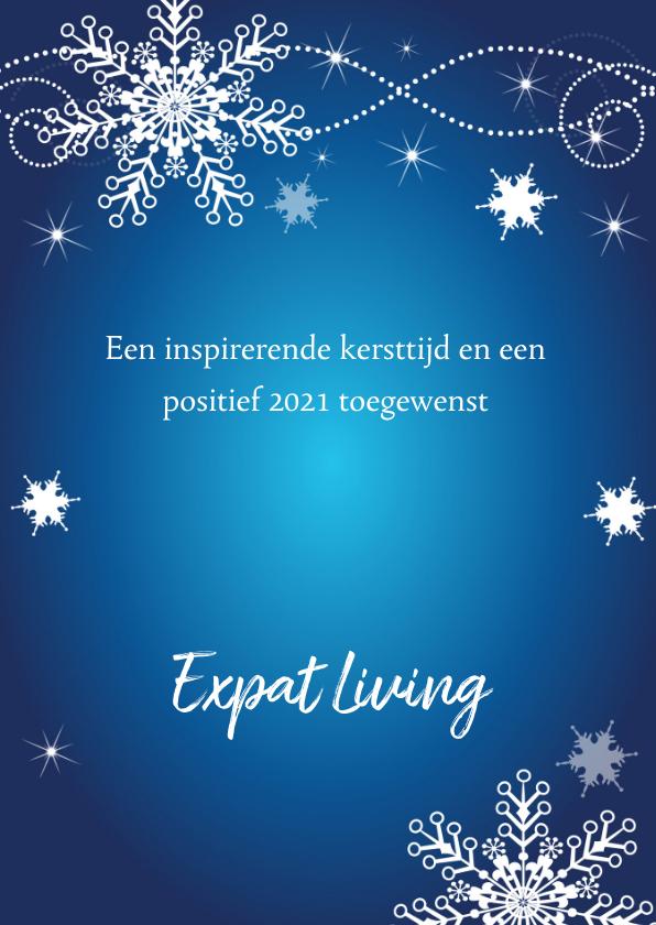 Zakelijke kerstkaart fotocollage blauw 3