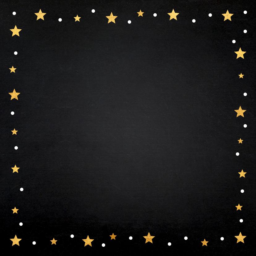 Zakelijke kerstkaart fotocollage zwart design  2