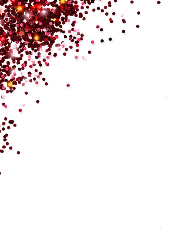 Zakelijke kerstkaart glitter rood 2