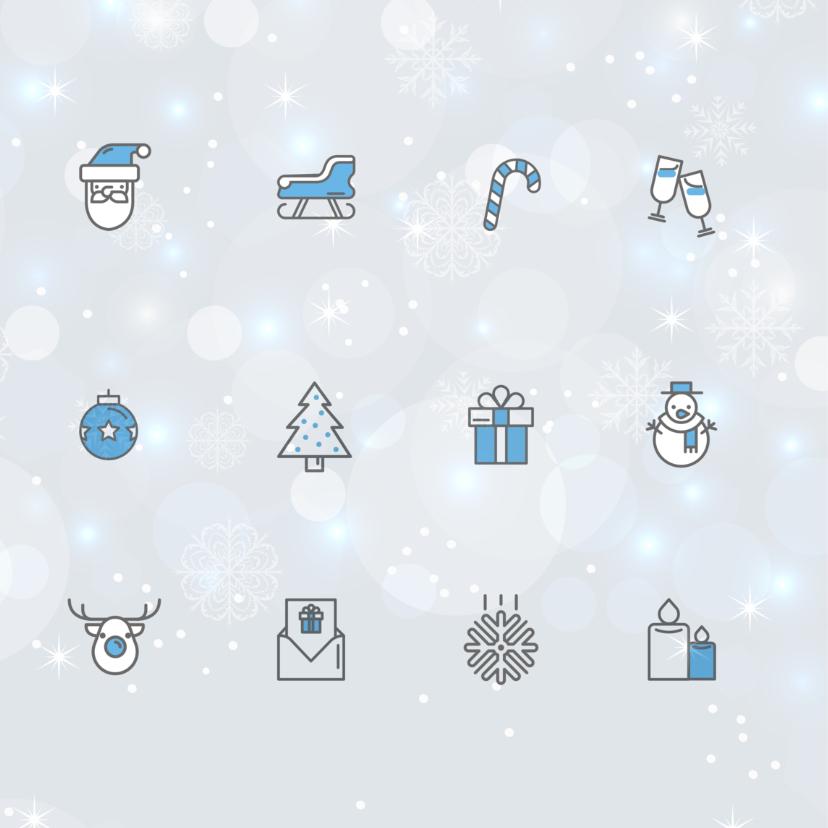 Zakelijke kerstkaart icoon blauw 2
