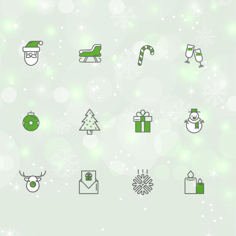 Zakelijke kerstkaart icoon groen 2