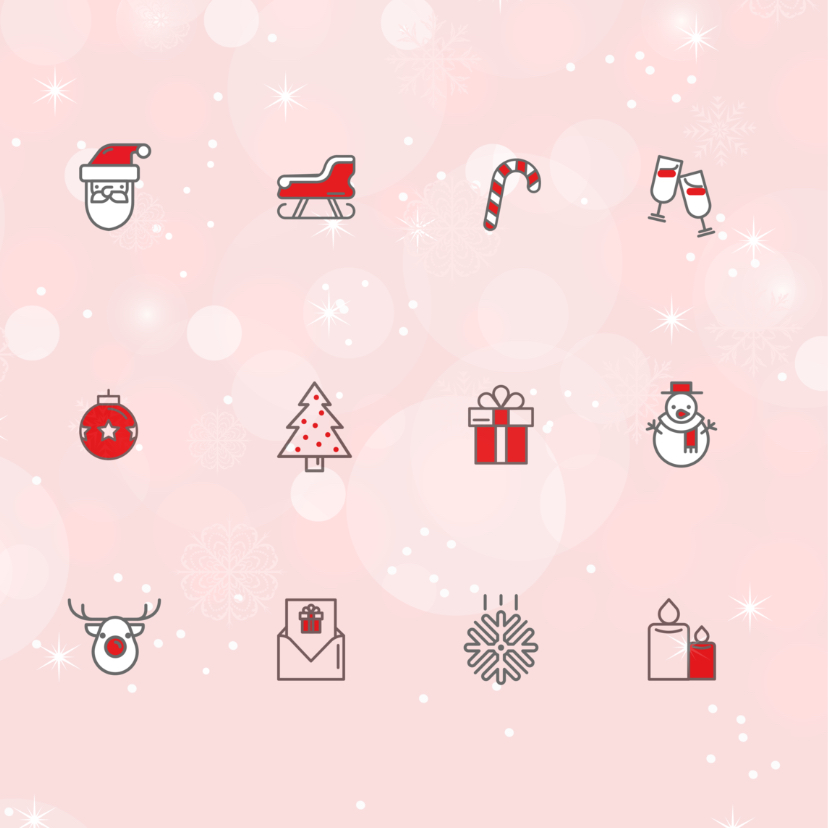 Zakelijke kerstkaart icoon 2