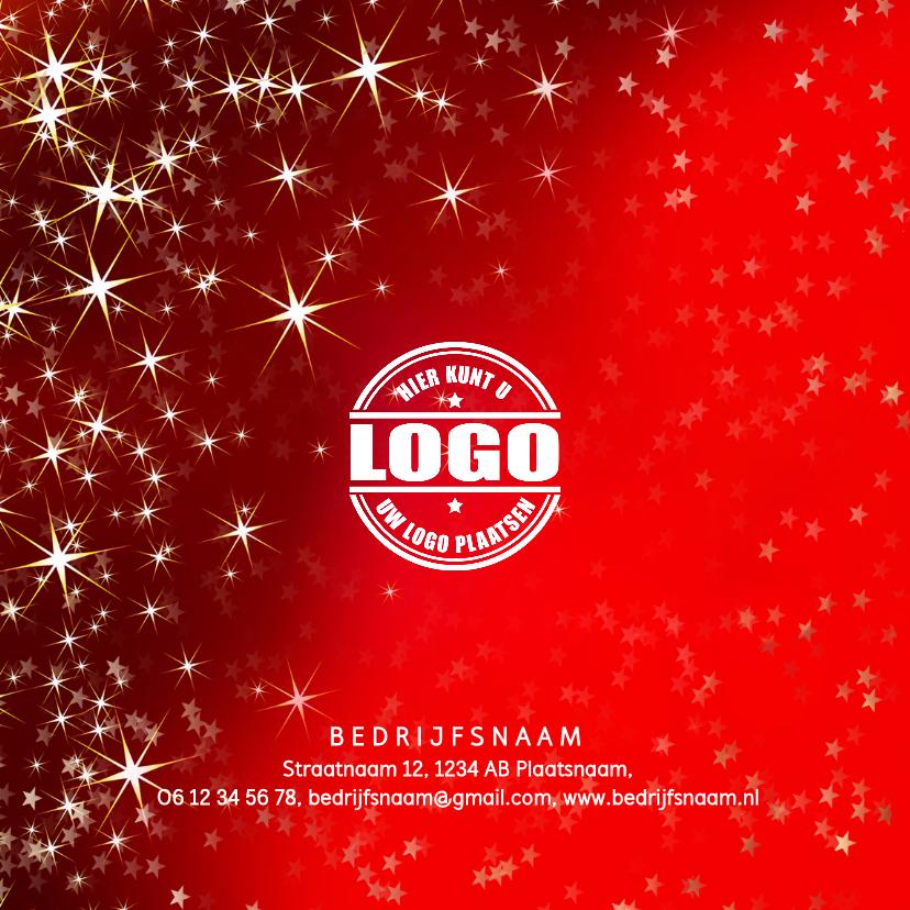 Zakelijke kerstkaart met een rode sfeervolle achtergrond 2