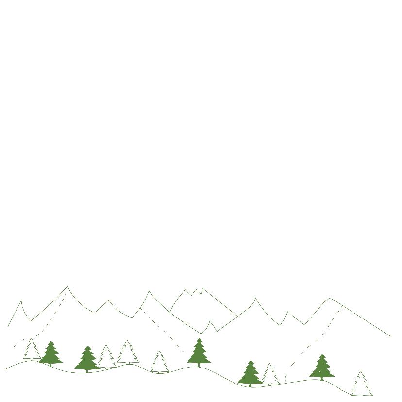 Zakelijke kerstkaart met groene landschap 2