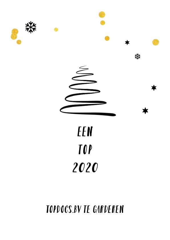 Zakelijke kerstkaart met hippe eenvoudige kerstboom 3