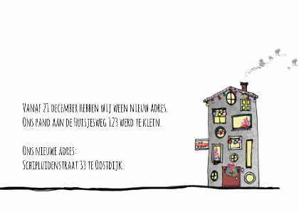 Zakelijke kerstkaart nieuw adres 3
