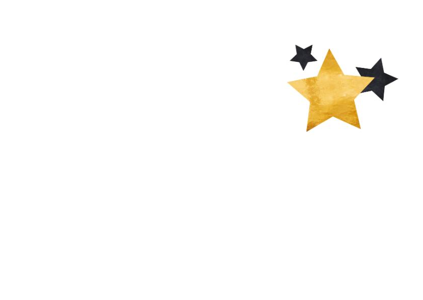 Zakelijke kerstkaart sierlijke tekst en sterren 2