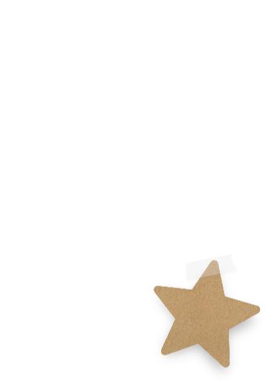 Zakelijke kerstkaart ster lint 3