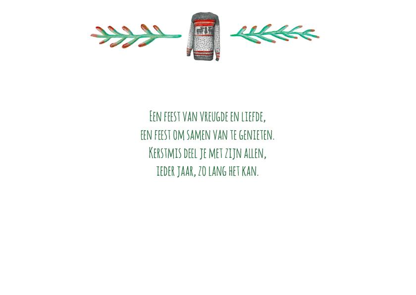 Zakelijke kerstkaart warm wishes met logo 2