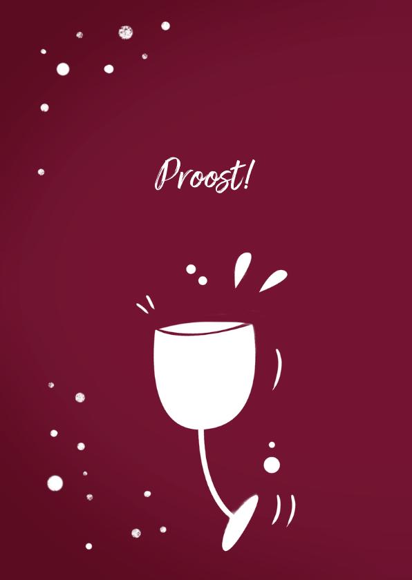 Zakelijke Kerstkaart Wijn goud met logo 2