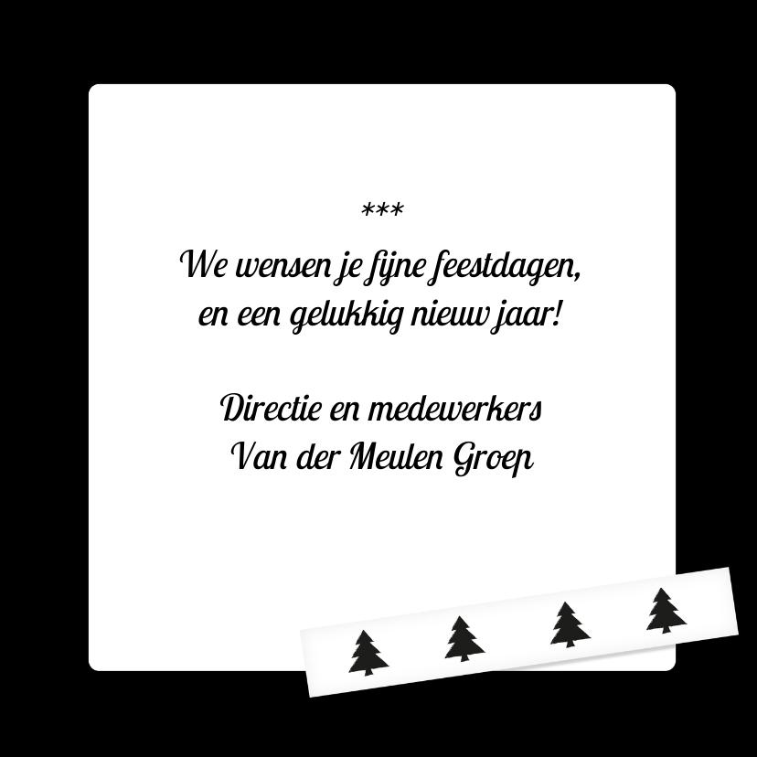 Zakelijke kerstkaart zwart wit  3