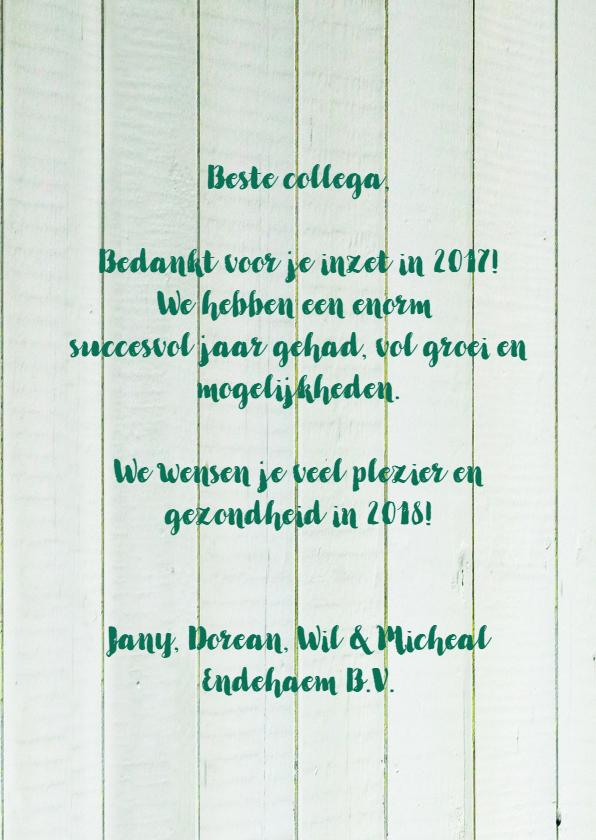 Zakelijke nieuwjaarskaart eigen tekst informeel 3