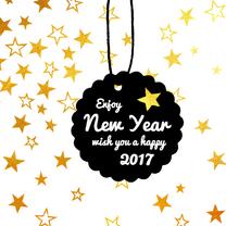 Nieuwjaarskaarten - Zakelijke nieuwjaarskaart ster