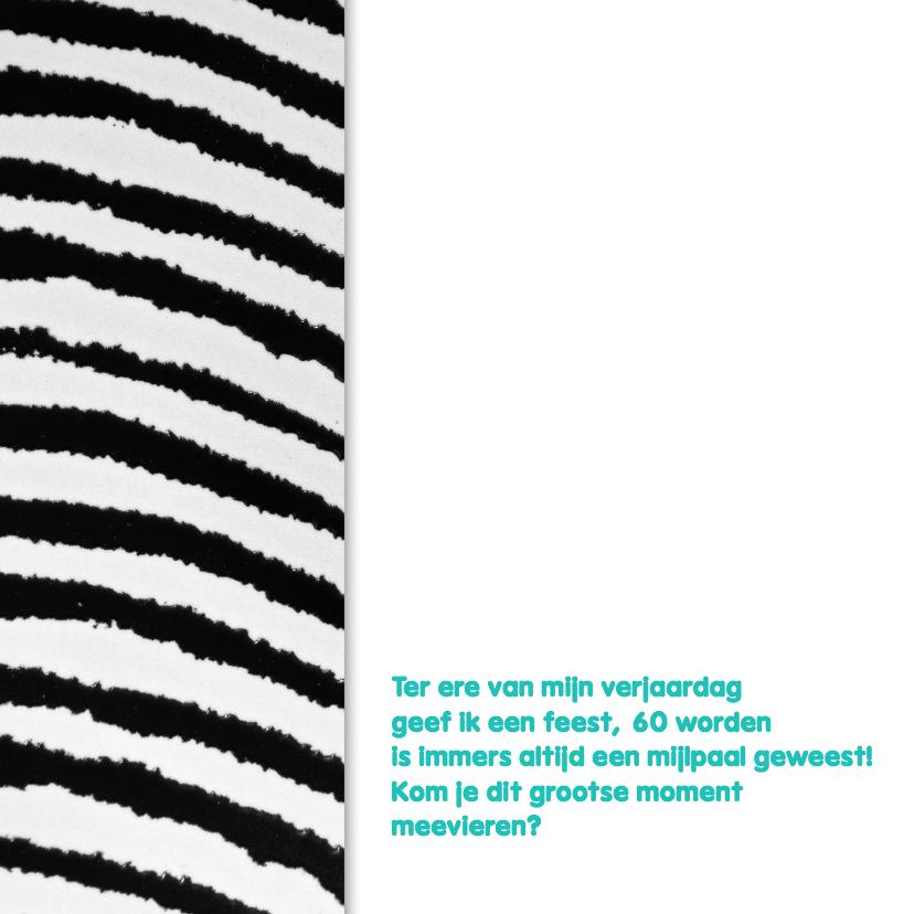 Zebraprint uitnodiging foto - DH 2