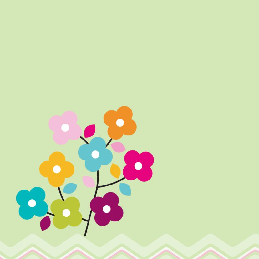 ZigZag lente kaart groen - BK 2