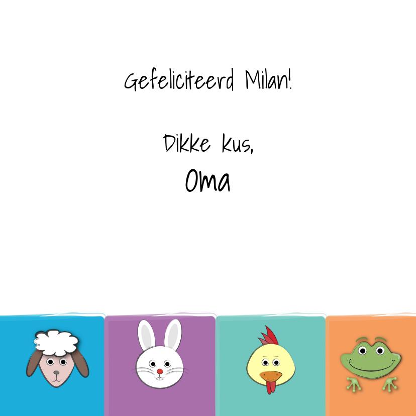 Zoe-t dierenkaart met leeftijd 3