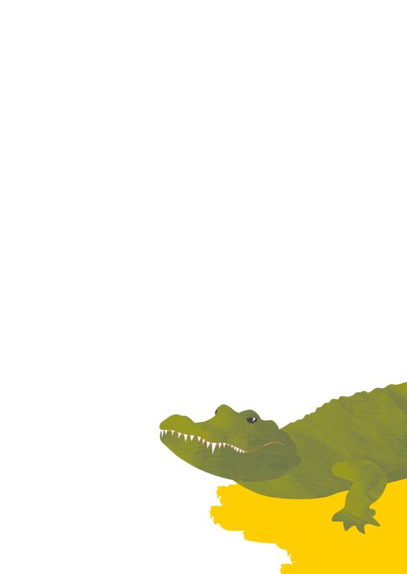 Zomaar een kaartje - alligator 3