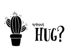 Zomaar kaarten - Zomaar kaart wanna hug cactus