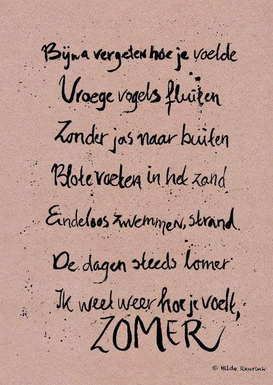 Gedichtenkaarten - Zomergedicht