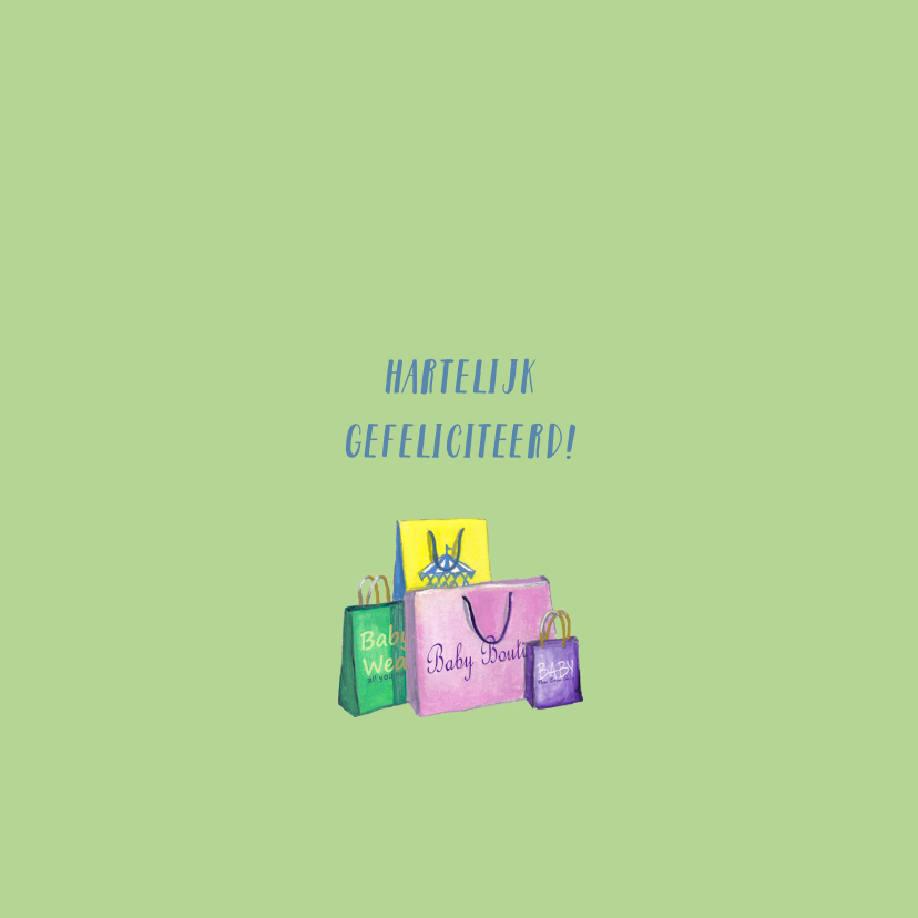 ZWANGER baby shop illustratie 3