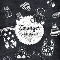 Felicitatiekaarten - Zwanger felicitatie tekeningen