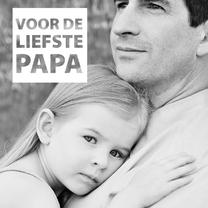zwart wit vaderdagkaart