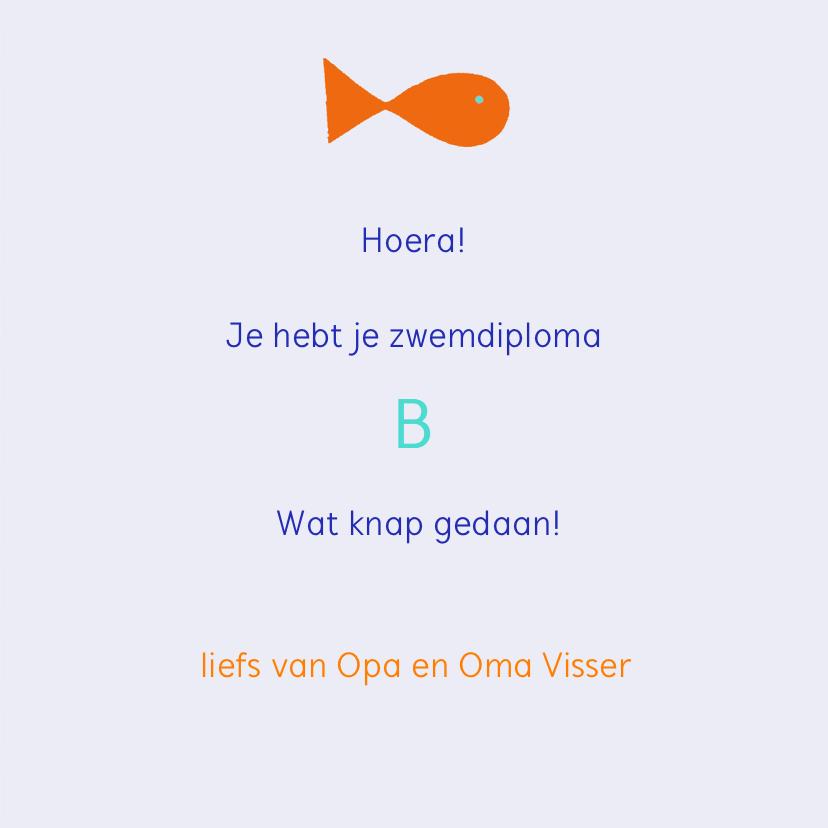 Zwemdiploma B met vissen 3