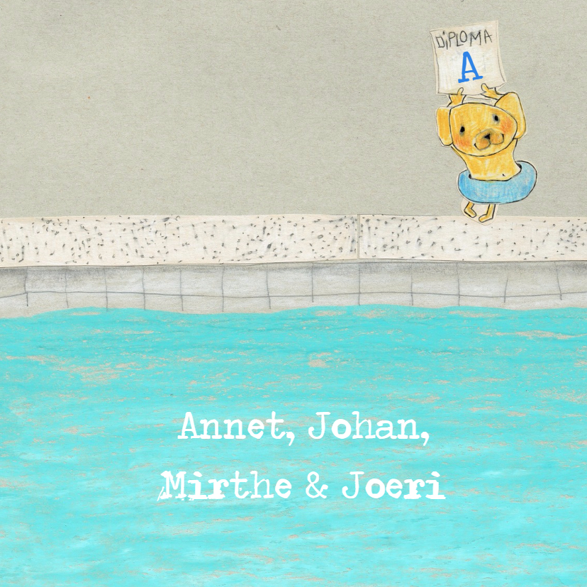 Zwemdiplomakaartje beer zwemles - MB 3